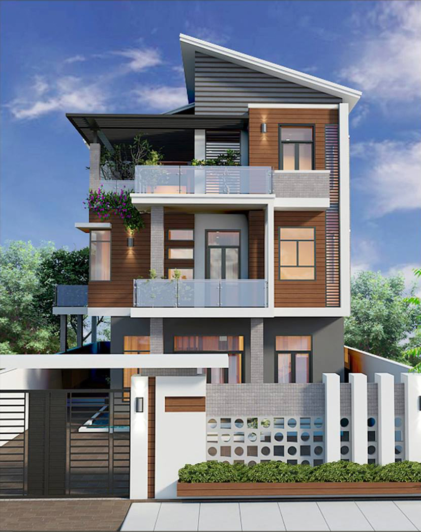 Thiết kế biệt thự 3 tầng hiện đại ở Vĩnh Yên