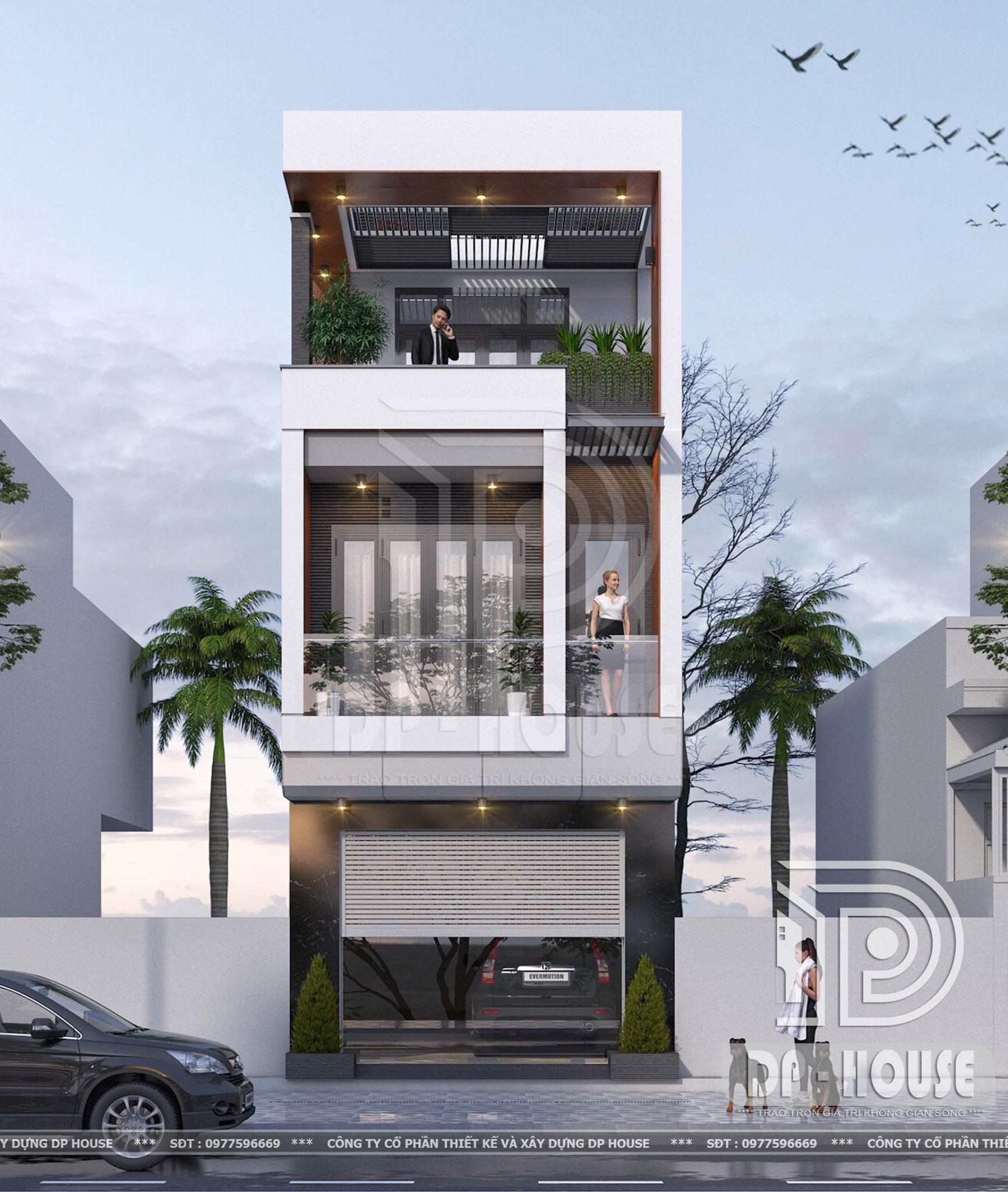 Thiết kế lô phố hiện đại 3 tầng ở Hải Dương