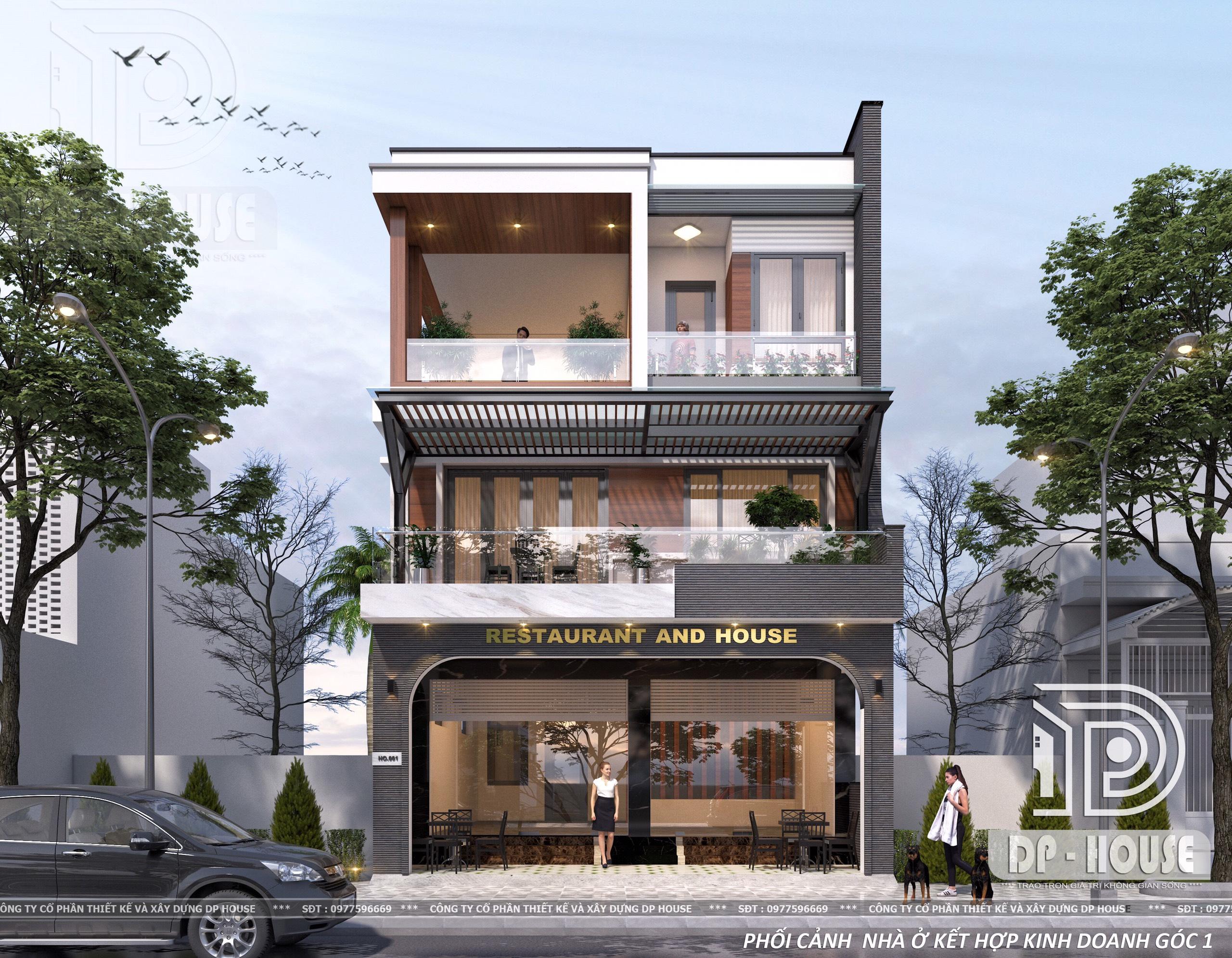 Thiết kế lô phố hiện đại 3 tầng ở phúc thọ